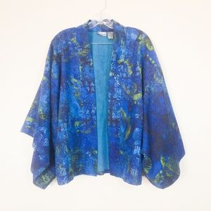 Chico's Blue Kimono Top Open Front Size Sm/Med